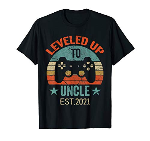 Promoted To Uncle EST. 2021 2020 Leveled Up To Daddy & Dad T-Shirt