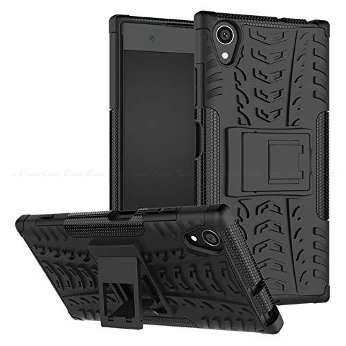 QiuKui For Sony Xperia 10 XZ3 XZ2 XZ1 Compacto y Resistente Armadura híbrido de la contraportada for Sony Xperia XZS XA1 XA2 Plus Ultra XA XZ Premium L3 L2 L1 (Color : Negro, Material : X Compact)