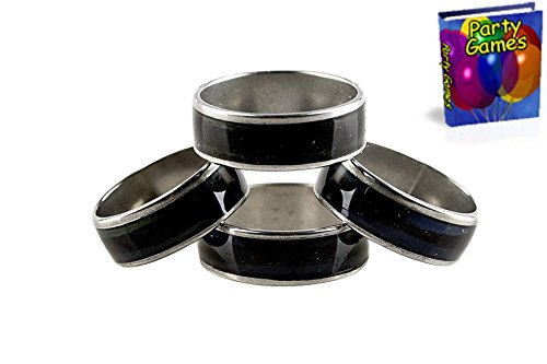 Nick's Niche's 1 Dozen Stainless Steel Mood Rings Plus Party Games Ebook for Parties of All Kinds