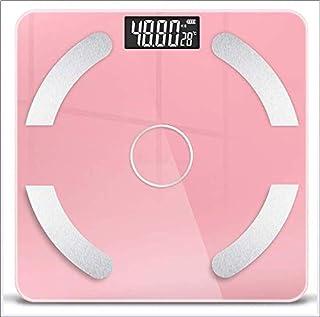Anabei Yuzhijie - Báscula de grasa corporal inteligente Bluetooth multifunción, báscula electrónica de grasa corporal, báscula de báscula inteligente de grasa corporal, color rosa