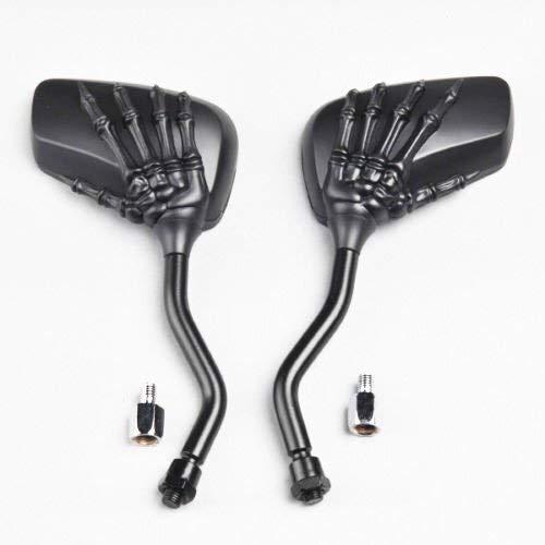 Universal-Motorrad-Rückspiegel, Skeleton Arm/Hand Motorrad-Spiegel, Motorrad-Schädel-Skelett-Hand-Motorrad außen, Seitenrückspiegel Chrom, Straßenfahrrad, Scoote, Rearview for Motorrad/Elektrofahr
