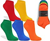 world wide sox | 5 Paar bunte Premium Sneaker Socken aus Baumwolle | 39-42