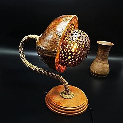 LÁMPARA DE MESA DECORATIVA - VIVIR CON ESTILO: Una lámpara de mesa es mucho más que una lámpara simple.Garantizamos elegancia, lámparas de madera maciza de alta calidad, diseños originales, creados por nuestros diseñadores y artistas, todos los deta...