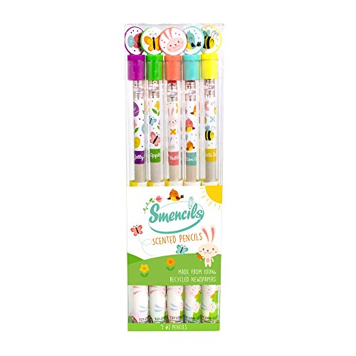 Scentco - Spring Smencils - HB #2 Scented Smelly Fun Cool Novelty Pencils / 5 Count/Gifts for Kids/School Supplies Classroom Rewards