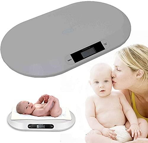SUNONE Báscula para Mascotas, Pantalla LCD electrónica multifunción Báscula para Alimentos de Cocina Báscula para bebés Pesaje Digital Balanza de baño para Mascotas para bebés 44 lbs