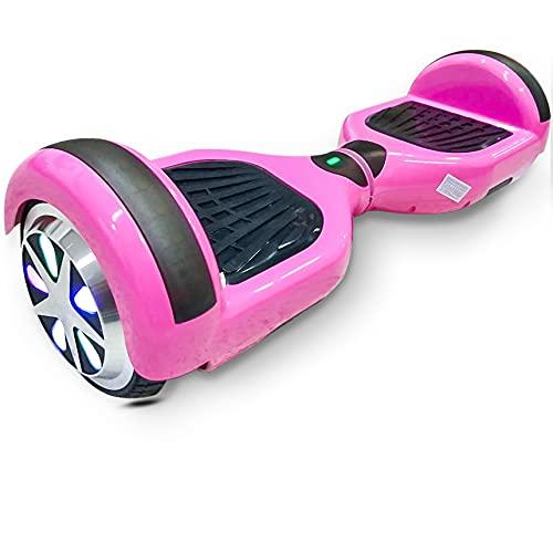 6'5 Polegadas Hoverboard Skate Electrico Scooter Infantil Bluetooth Led Bateria Luuk Young (Rosa)