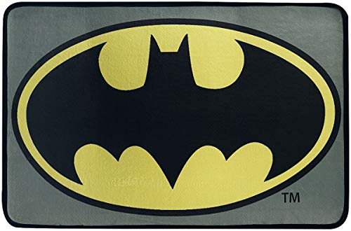 Batman Logo Unisex Alfombra Multicolor, Poliester,