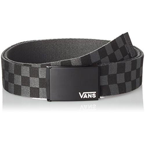 Vans Deppster Ii Web Belt Cintura, Nero (Black/charcoal), Taglia unica Uomo