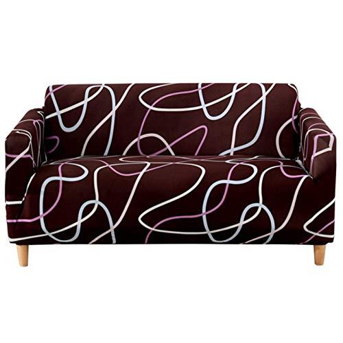 Sofá Simple Living om Funda Antideslizante Suave para sofá Todo Incluido hion Protección contra el Polvo Modern Universal Elastic Stretch Full Wrap Single Seater (90-140cmB)