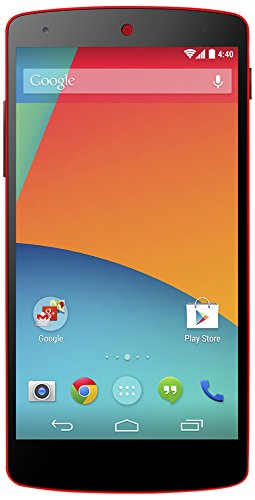 Google Nexus 5 Smartphone (4,95 Zoll (12,6 cm) Touch-Display, 16 GB Speicher, Android 4.4) rot