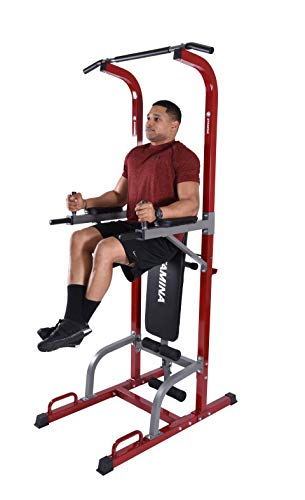 Stamina Full Body Power Tower 1735 with Upholstered Bench and Weight Bar Holder