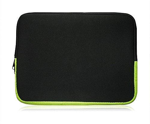 Sweet Tech Neopren Schutzhülle Sleeve Geeignet Für TrekStor SurfTab Duo W229,5cm (29,5–31,8cm Laptop) schwarz / grün
