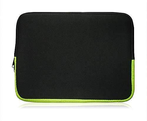 Sweet Tech Black/Green Neoprene Case Cover Sleeve Suitable for Polaroid 11.6 Inch HD Tablet with Detachable Keyboard (11.6-12.5 inch Laptop)