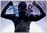 Pepkgk Sword Art Online DIY 5D Diamond Painting, Kit de numeración, Imagen de Bordado de Diamantes de imitación y Cristal, Regalo de decoración de la Pared del hogar Artesanal (c(Cuadrado 40x60cm)