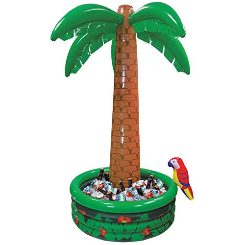 Hawaiiaanse strand-party-decoratie Palm, opblaasbare koeltas. 9 oz multicolor