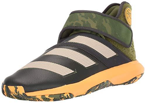 adidas Men's Harden B/E 3 Basketball Shoe, Legend Earth/Linen/Flash Orange, 7.5 M US