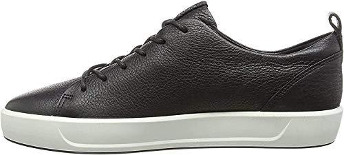 ECCO mens Ecco Men's Soft 8 Tie Fashion Sneaker, Black/Black, 6-6.5 US