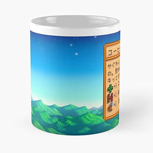 Stardew - Taza de café de cerámica de 315 ml con texto en inglés