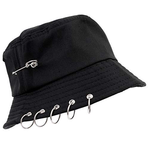 Seiya International Korean Design Ring Bucket Hat - bucket blk