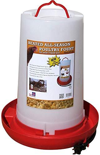 Farm Innovators Model HPF-100 All-Seasons Heated Plastic Poultry Fountain, 3 Gallon, 100-Watt (Pack of 2)
