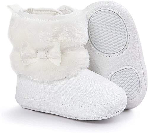 Matt Keely Bebé Niña Bowknot Botas de nieve Zapatos de invierno cálido Botines