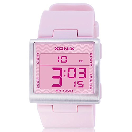 Bright, quadratisch, Ladies Watch/Multifunktions, Fashion, Frauen, wasserdicht, Form elektronischer Lichterkette led-e