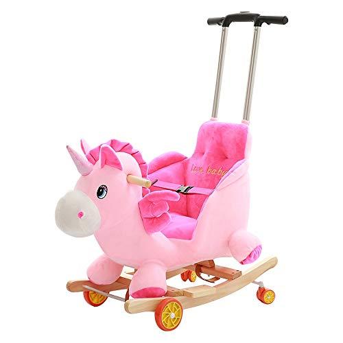 Kibten Caballo de oscilación de color rosa bebé unicornio princesa Girls del niño interior al...