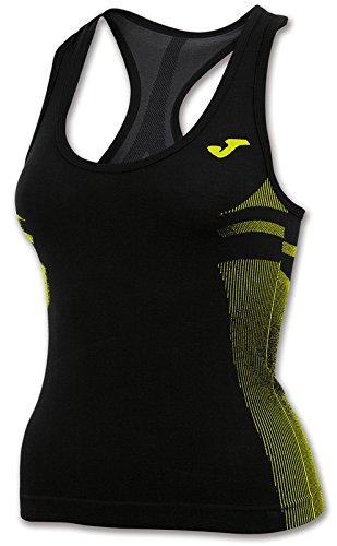 Joma Brama Emotion - Camiseta térmica para Mujer, Color Negro/Verde, Talla XS-S