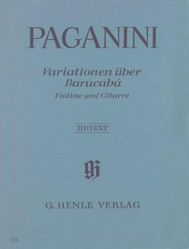 60 Variationen über Barucabà für Violine und Gitarre op. 14