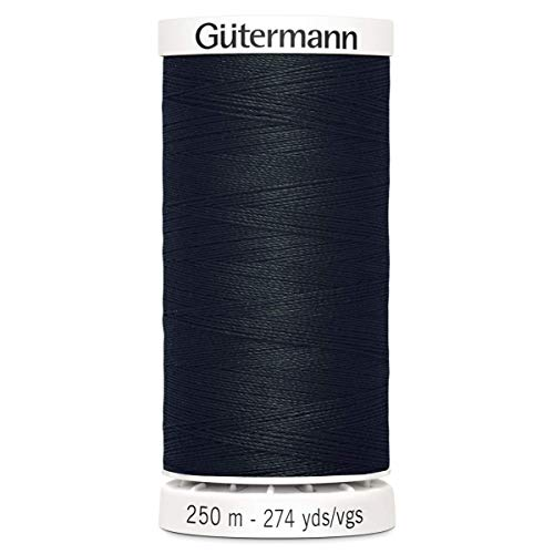 Gutermann–Cenefa, poliéster, Negro, 250m