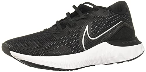 Nike Renew Run Mens Running Trainers CK6357 Sneakers Shoes (UK 9.5 US 10.5 EU 44.5, Black Metallic Silver White 002)