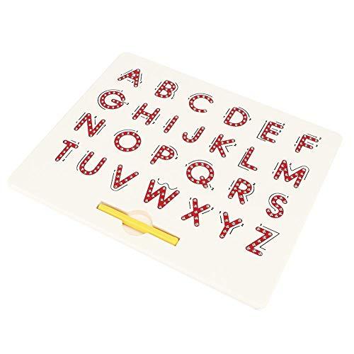 Hoseten Zeichenbrett, Vorschulalphabet-Spielzeugschreibbrett, Kinderbuchstaben-Verfolgungsbrett für Jungen und Mädchen(red)