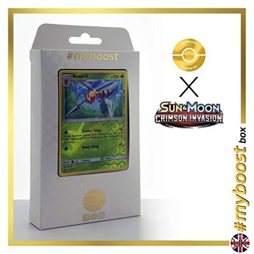 Naganadel 108/214 Holo - #myboost X Sun & Moon 8 Lost Thunder - Doos met 10 Pokemon Engelse kaarten