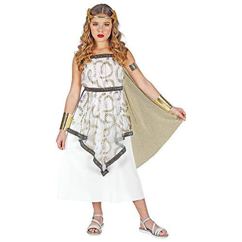 Widmann 01875 Kinderkostüm Griechische Göttin, Mädchen, Weiß/Gold, 116 cm