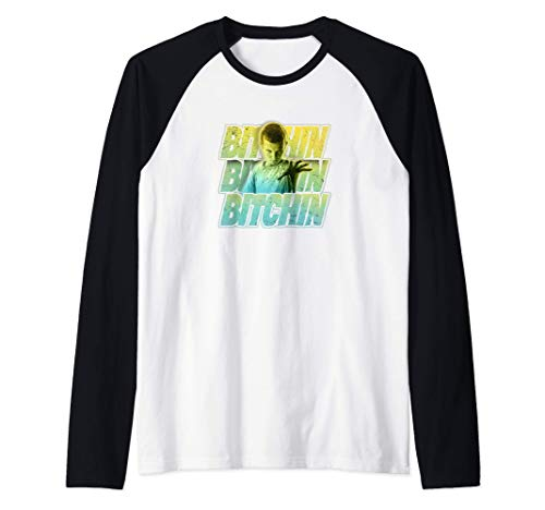 Stranger Things Eleven Bitchin Green Gradient Stack Camiseta