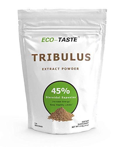 Tribulus Terrestris Extract Powder, 45% Steroidal Saponins for T Booster, Gluten-Free, Non-GMO, 114 Grams