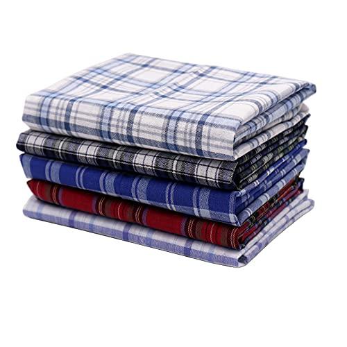 Yuknees Herren Taschentücher Stoff 5er Pack Herrentaschentücher Baumwolle Bunte Stofftaschentücher Schnupftücher Cotton Handkerchief Bunte Baumwolltaschentücher Geschenk für Männer
