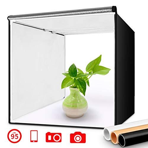 FOSITAN Caja de Luz 40x40cm Caja de Fotografía Estudio, Fotográfico Portátil...