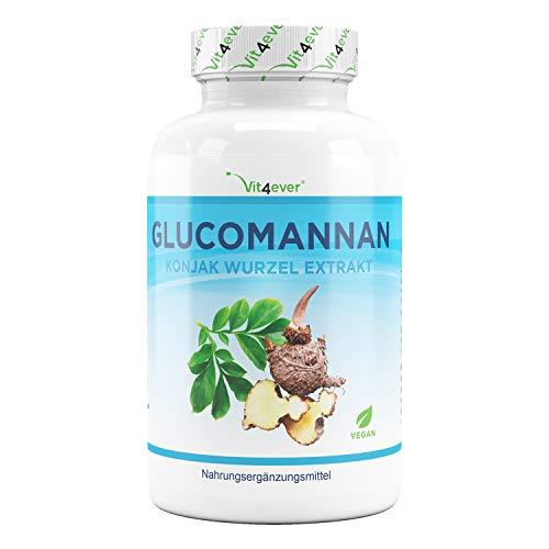 Perdere peso con il glucomannano dalla radice konjac - 180 capsule - Premium: Altamente dosato con...