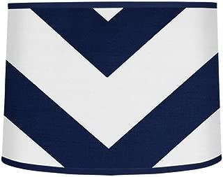Sweet Jojo Designs Navy Blue and White Chevron Zigzag Lamp Shade