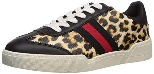 Madden Girl Women's Fiona Sneaker, Leopard/Black, 10 M US