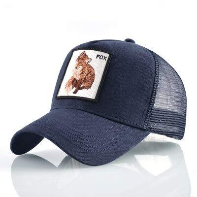 8 Tipos deGorras de béisbol para Hombres Gorras Snapback de Malla Transpirable Unisex Sombrero para el Sol para Mujeres Casquette Hip Hop-Fox BU