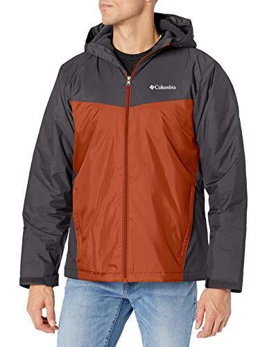 Columbia Men's Glennaker Sherpa Lined Jacket, Shark/Dark Amber, Large
