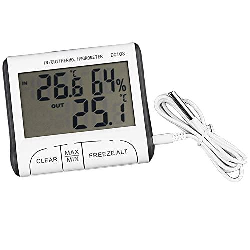 Medidor de temperatura digital, DC103 Termómetro digital...