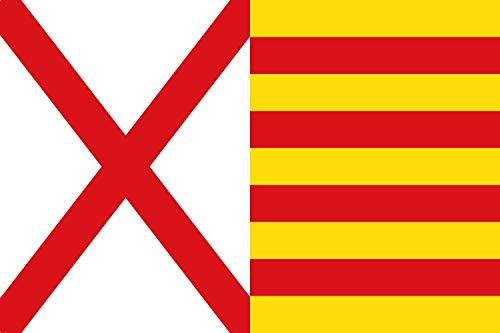 magFlags Bandera XL Hospitalet de Llobregat, Barcelona, España | Bandera Paisaje | 2.16m² | 120x180cm