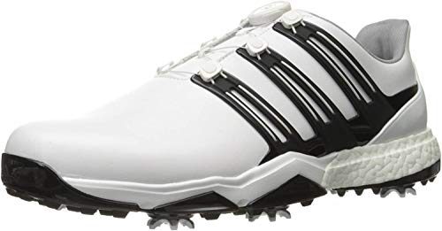 Adidas Herren Powerband Boa Boost WD Golf Schuhe, Weiß (White/core Black/silver Metallic), 42 EU