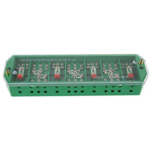 Caja de Conexiones Eléctrica QFJ6 / PJ1, Caja de Conexiones Eléctrica Trifásica del Terminal del Medidor del Hogar Trifásico de 4 Cables Verde