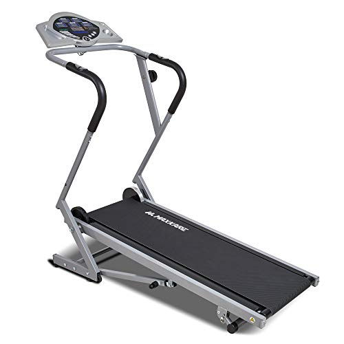 MaxKare Manual Treadmill Folding Treadmills Machine for Home Use Walking with Heart Pulse and 8 Levels of Magnetic Resistance