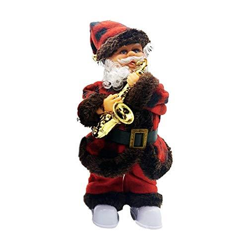 Wenhe - Muñeca de Papá Noel con música eléctrica, diseño de Papá...