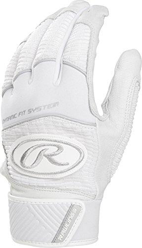 Rawlings WH950BG-W-90 Workhorse Batting Gloves, White